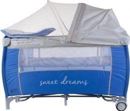 Cestovní postýlka Sunbaby Sweet dreams s plnou výbavou B02.004.