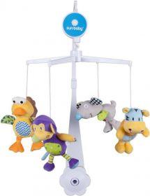 Kolotoč nad postýlku Sunbaby s plyšovými hračkami