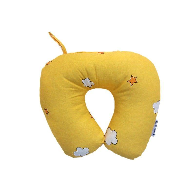 Cestovní polštářek Medvídek Měsíc žlutá