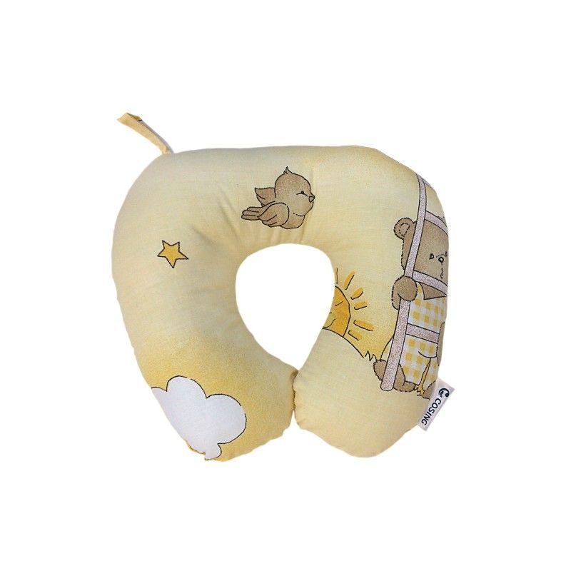 Cestovní polštářek Medvídek v oblacích žlutá