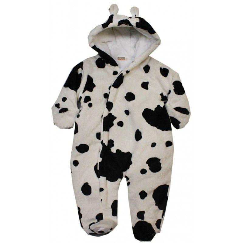 Dětská zimní kombinéza s designem kravičky