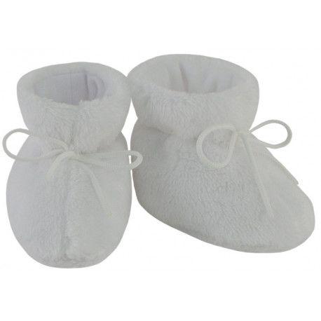 ESITO Kojenecké botičky Lara velké bílá 2 - 5 měsíců