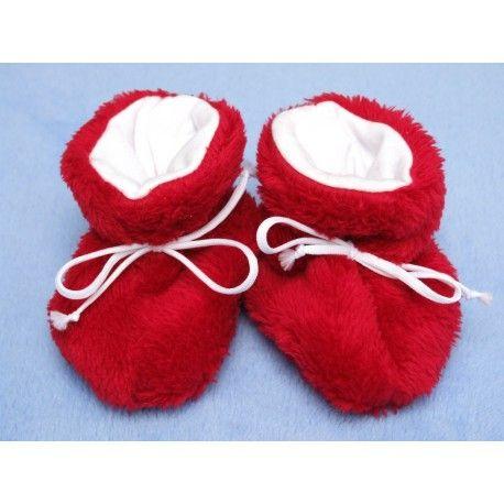 ESITO Kojenecké botičky Lara velké červená 2 - 5 měsíců