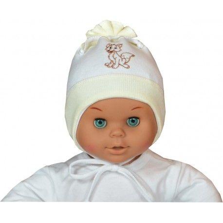 ESITO Čepice svetřík bílá / smetanová XS