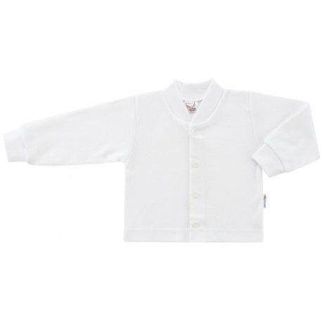 ESITO Kojenecký kabátek bavlněný jednobarevný bílá 74