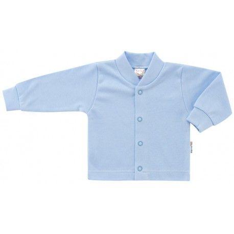 ESITO Kojenecký kabátek bavlněný jednobarevný modrá 68