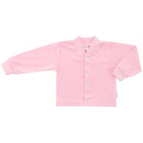 ESITO Kojenecký kabátek bavlněný jednobarevný růžová 68
