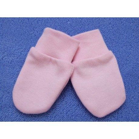 ESITO Rukavice bavlna jednobarevné růžová 68