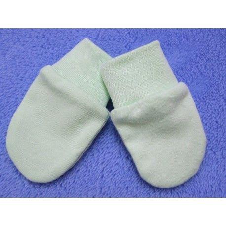 ESITO Rukavice bavlna jednobarevné zelená 56