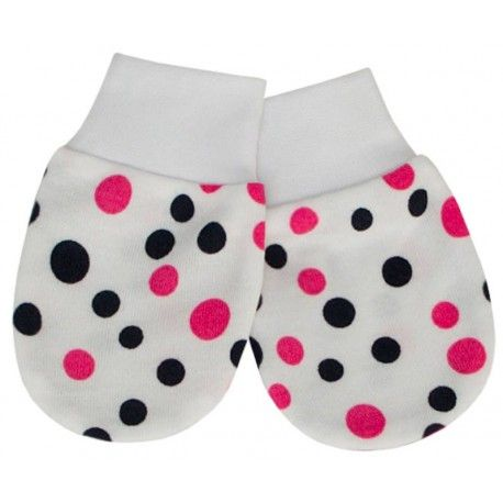 ESITO Rukavice bavlna potisk puntík puntík růžová 56