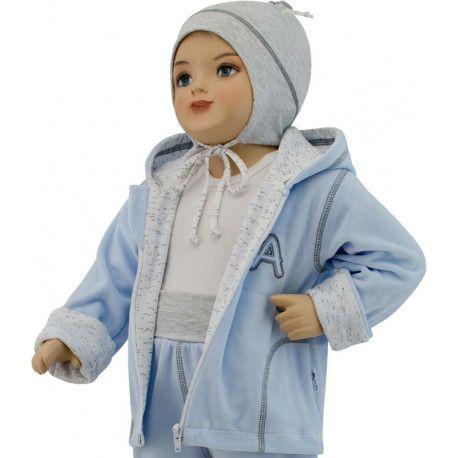ESITO Dětská jarní bunda Adam vel. 74 - 86 modrá 86