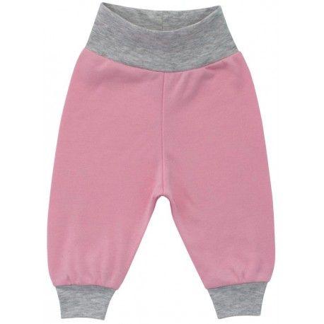 ESITO Kojenecké tepláčky bavlna vel. 56 - 74 růžová 56