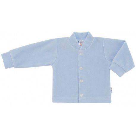 ESITO Kojenecký kabátek plyšový jednobarevný modrá 56