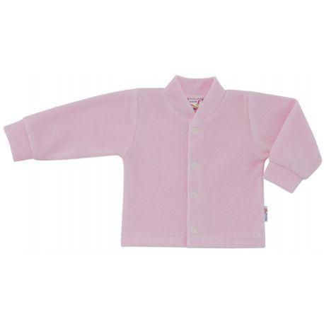 ESITO Kojenecký kabátek plyšový jednobarevný růžová 74