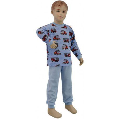 ESITO Chlapecké pyžamo hasiči vel. 80 - 110 hasiči modrá 80