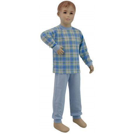 ESITO Chlapecké pyžamo modré kostky velké vel. 92 - 110 kostka sv. modrá velká 92