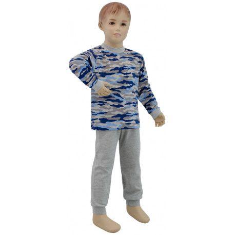 ESITO Chlapecké pyžamo modrý maskáč vel. 86 - 110 maskáč modrá 86