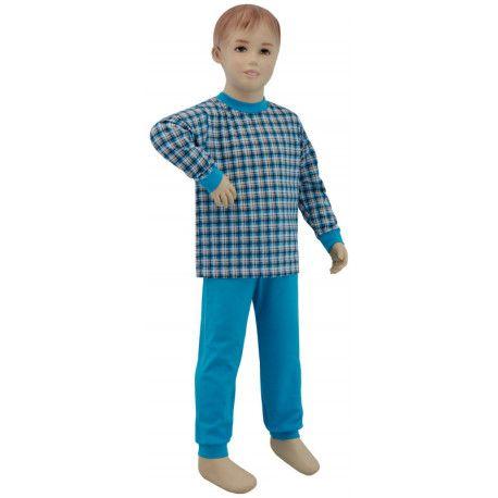 ESITO Chlapecké pyžamo tyrkysové kostky vel. 92 - 110 tyrkysová kostka malá 92