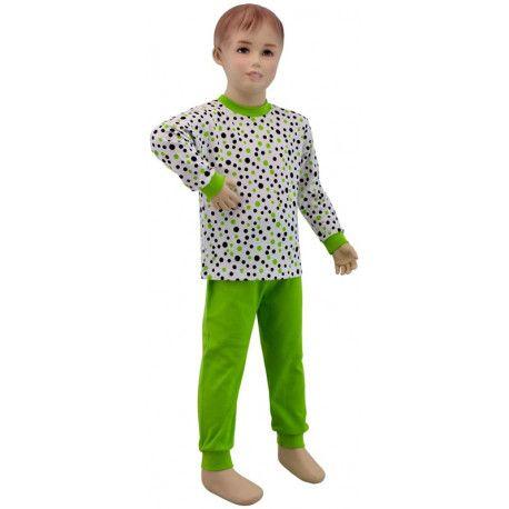 ESITO Dětské pyžamo zelený puntík vel. 86 - 110 puntík zelená 86