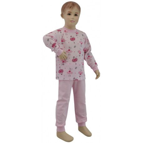 ESITO Dívčí pyžamo baletka vel. 116 - 122 baletka růžová 122