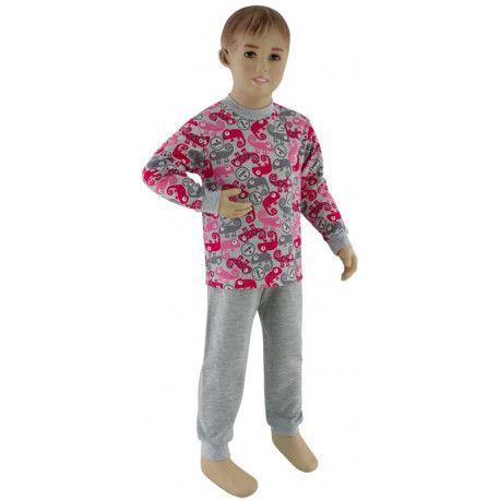 ESITO Dívčí pyžamo růžový chameleon vel. 92 - 110 chameleon růžová 98