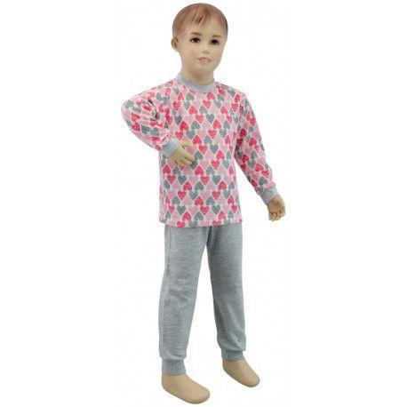 ESITO Dívčí pyžamo srdce vel. 116 - 122 velká srdce 122