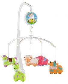 Kolotoč nad postýlku s plastovými hračkami Sunbaby