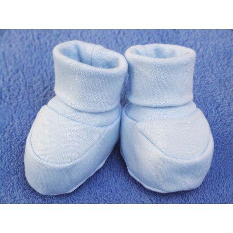 ESITO Kojenecké bačkůrky bavlna malé jednobarevné modrá