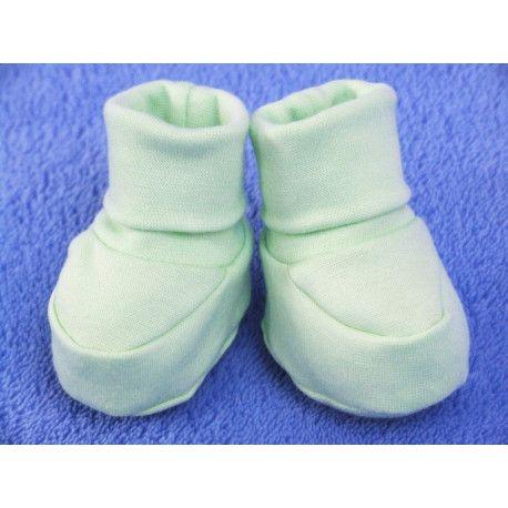 ESITO Kojenecké bačkůrky bavlna malé jednobarevné zelená