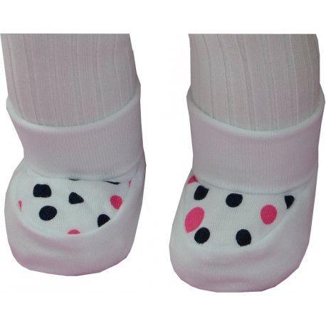 ESITO Kojenecké bačkůrky bavlna malé puntík puntík růžová