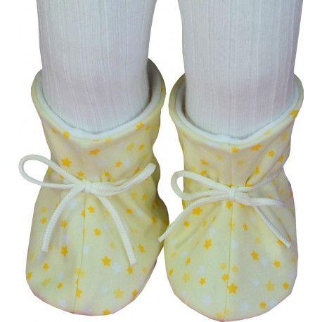ESITO Kojenecké botičky bavlna velké hvězdička hvězdička žlutá