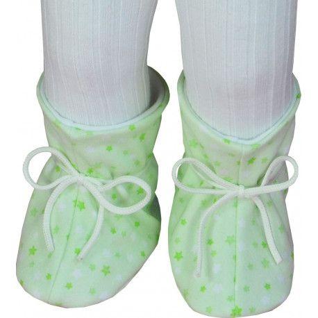 ESITO Kojenecké botičky bavlna velké hvězdička hvězdička zelená
