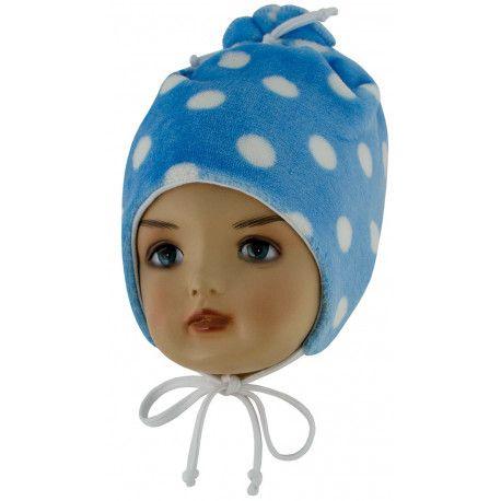 ESITO Dětská zimní čepice Puntík modrá S