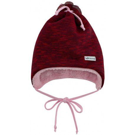 ESITO Dětská zimní čepice Vojta červená XS