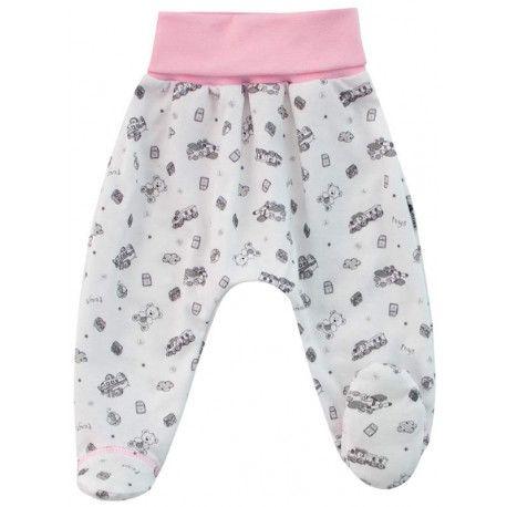 ESITO Polodupačky bavlna Toys vel. 56 až 68 růžová 56