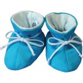 ESITO Kojenecké botičky bavlna velké jednobarevné tyrkysová 2 - 5 měsíců