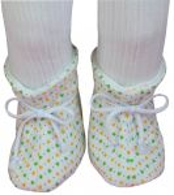 ESITO Kojenecké botičky bavlna velké srdce srdce bílá / zelená
