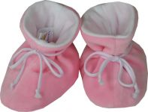 ESITO Kojenecké botičky plyš velké jednobarevné růžová