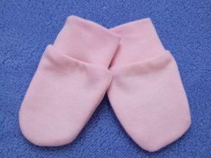 ESITO Rukavice bavlna jednobarevné růžová 56