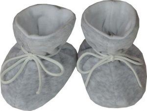 ESITO Kojenecké botičky plyš velké melír šedá melír