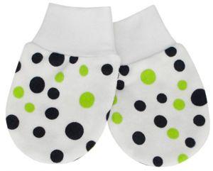 ESITO Rukavice bavlna potisk puntík puntík zelená 68