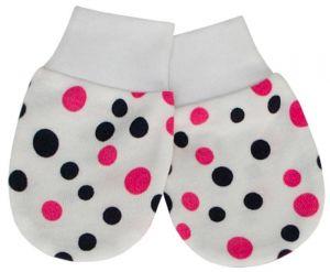ESITO Rukavice bavlna potisk puntík puntík růžová 62