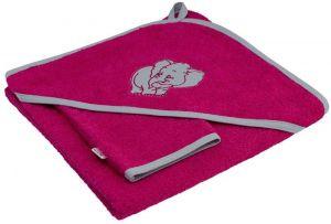 ESITO Dětská osuška s kapucí sytá růžová 100 x 100 cm