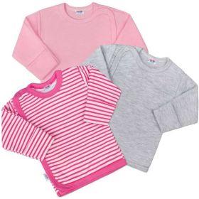 Kojenecká košilka New Baby Classic II Holka 3ks Dle obrázku