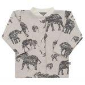 Kojenecký kabátek Baby Service Sloni šedý Šedá