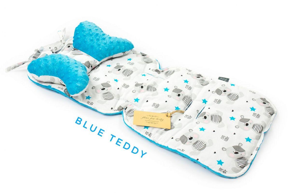 Vložka do kočárku komplet sada + polštářek motýlek Floo for baby